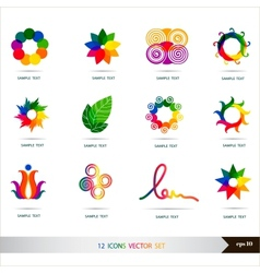Icons set Design elements set art vector image