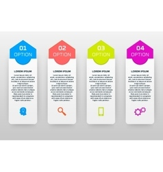 infographics template with four options in vector image