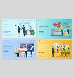 International business produce in china website vector