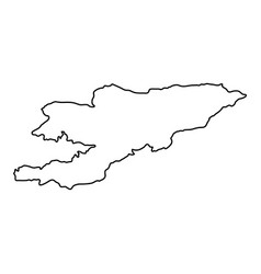 kyrgyzstan map of black contour curves on white vector image