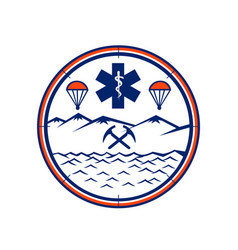 Land sea air rescue icon vector