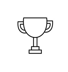 Line trophy prize cup to winner champion vector