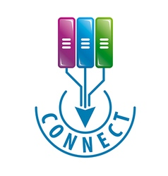Logo connect to server data vector