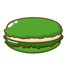 Macaroons icon cartoon style vector