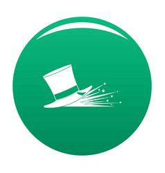 magic hat icon green vector image
