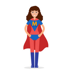 Mather superheroes super mom character vector