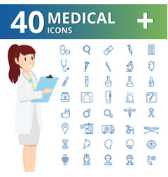 medical health and healthcare iconsinfographic vector image