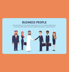 Meeting business people for signing an agreement vector