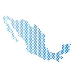 Mexico map hex-tile scheme vector