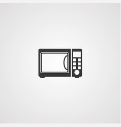 microwave icon sign symbol vector image