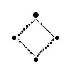 Minimal dot border - monochrome modern vector