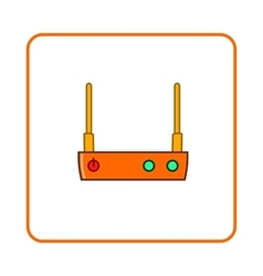 Modem icon simple style vector image