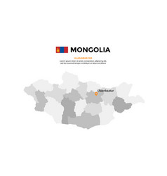 mongolia map infographic template slide vector image