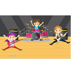 Musicians and musical instruments rock band music vector