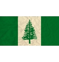 Norfolk paper flag vector image