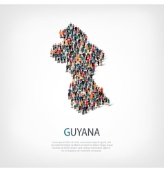 people map country Guyana vector image