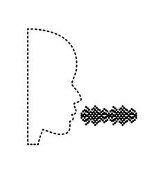 people speaking or singing sign black vector image vector image