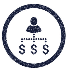 Person payments rounded grainy icon vector
