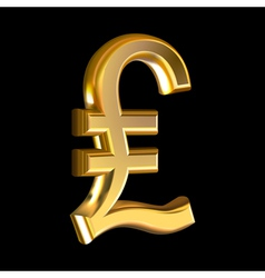 Pound sign on black vector image