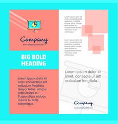 presentation company brochure title page design vector image