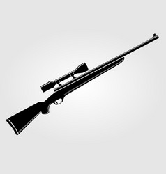 Rifle icon isolated on white background vector