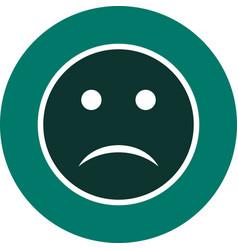 Sad emoji icon vector