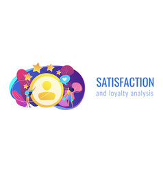 Satisfaction and loyalty analysis concept banner vector
