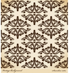 seamless background medieval ornament retro vector image