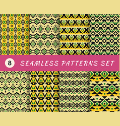 seamless patterns set with endless mexican or vector image