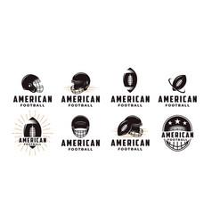 set badge patch american football sport logo vector image
