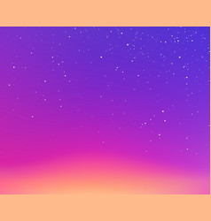 starry evening violet sunset sky gradient vector image