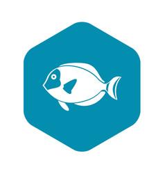 Surgeon fish icon simple style vector