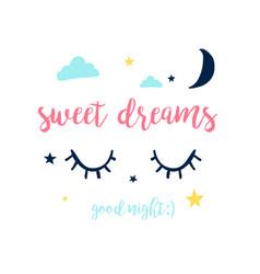 sweet dreams slogan vector image