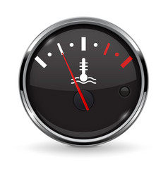Temperature car gauge black device with chrome vector