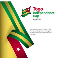 togo independence day template design vector image