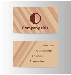 Visit card creative template vector