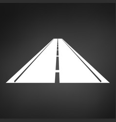 white logo of a minimalistic road with a roadside vector image