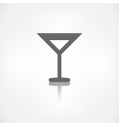 Wine glass web icon vector image