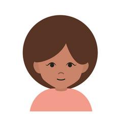 woman cartoon character portrait afro female flat vector image