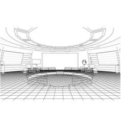 futuristic office interior vector image vector image