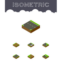 Isometric way set of subway pedestrian downward vector