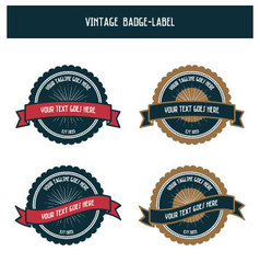 Vintage badge-label vector image