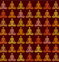 yoga pattern vector image