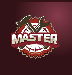 - text master hammer and wrench vector image vector image