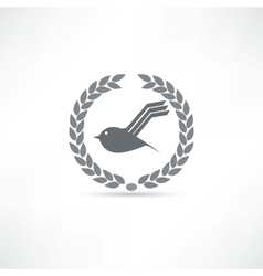 bird icon vector image vector image