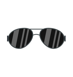 dark glasses icon flat style vector image