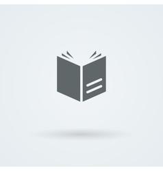 Simple open book icon vector image