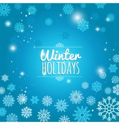 Winter holiday blue snowflakes background vector image vector image