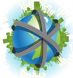 3d road vector image vector image
