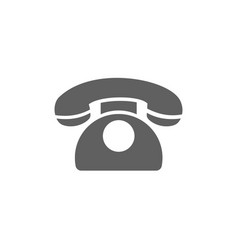 classic phone icon on a white background vector image